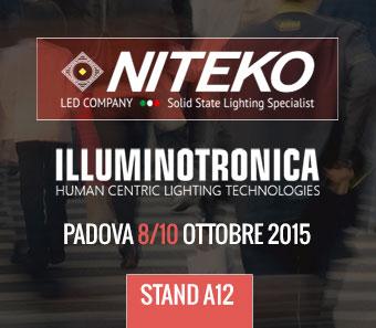 Niteko ti aspetta a Illuminotronica. Padova 8/10 ottobre 2015