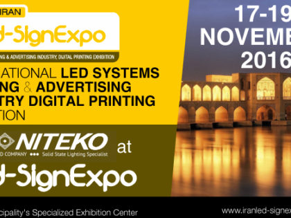 Niteko  al Led Sign Expo in Iran. Teheran, dal 1t e 19 Novembre 2016