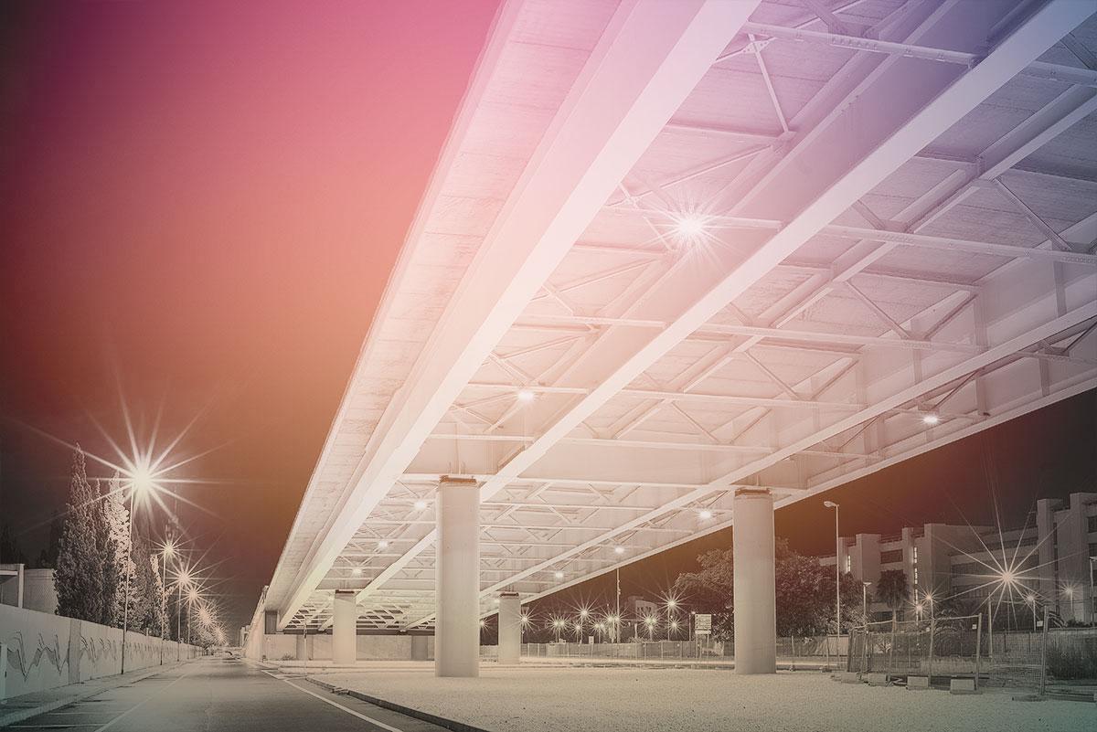 L illuminazione del ponte strallato di bari niteko