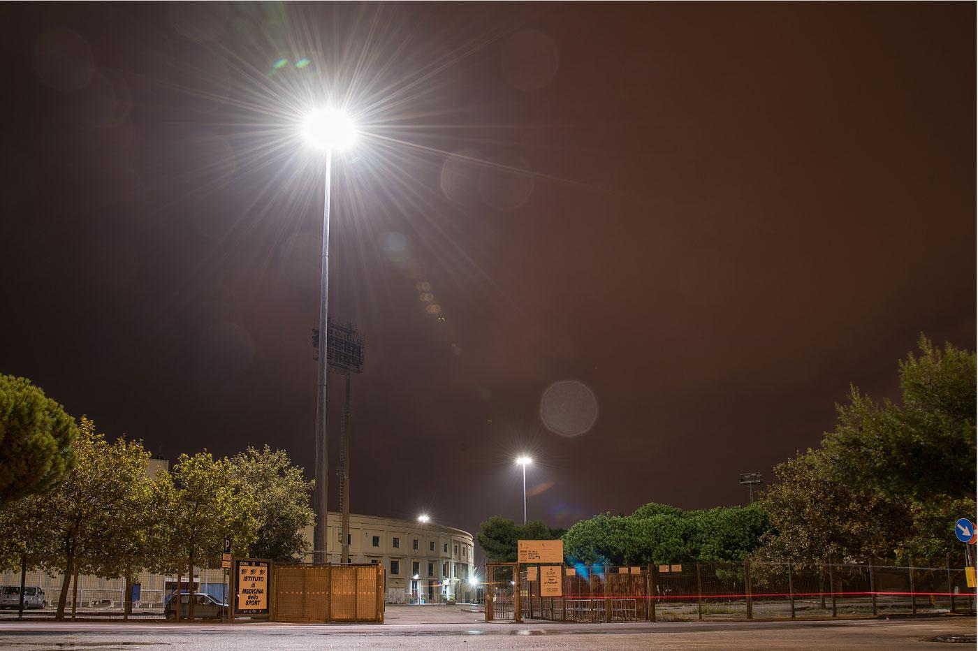 Illuminazione grandi aree: parcheggio stadio della vittoria bari