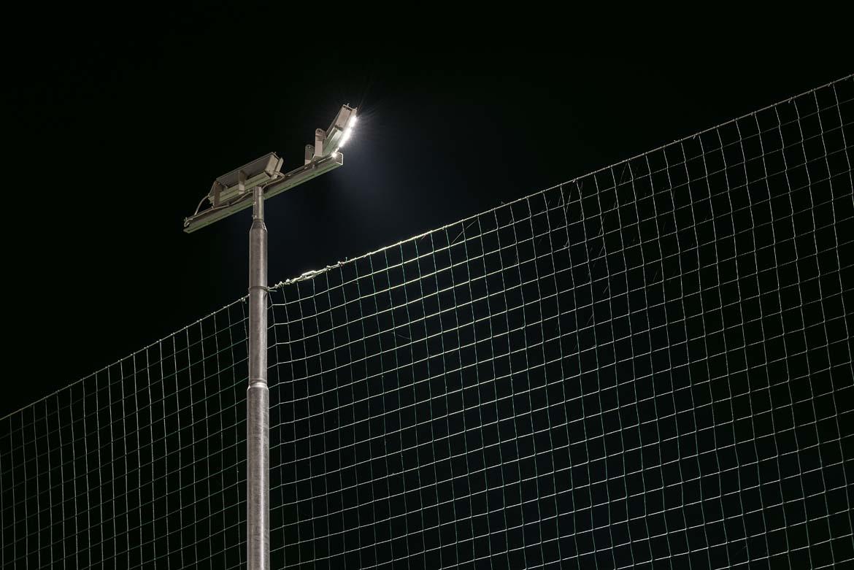 Illuminazione campo da calcio. trani ba . italia niteko